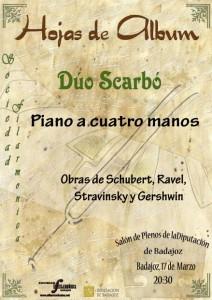 Cartel de concierto del Dúo Scarbó