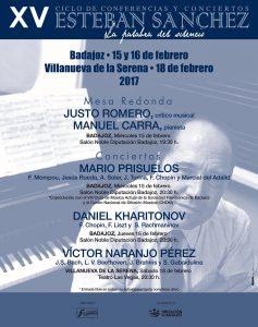 CARTEL XV CICLO ESTEBAN SÁNCHEZ 2017