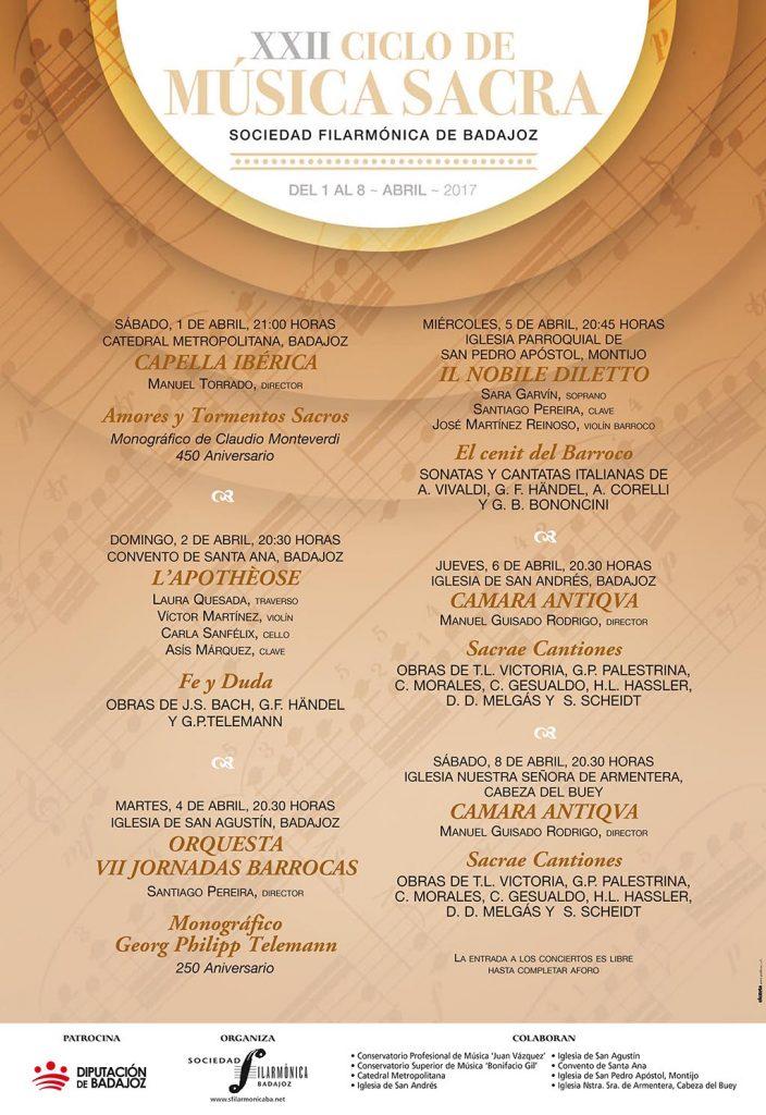 Cartel XXII Ciclo Música Sacra