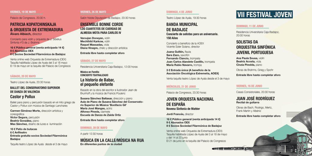 PROGRAMA XXXIV FESTIVAL IBÉRICO DE MÚSICA